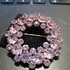 KRAMER Alexandrite Wreath Brooch