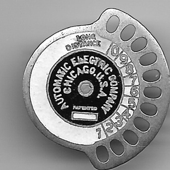 Automatic Electric (Strowger) and Telephone Co. Employee Badge - Telephones
