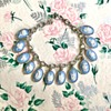 Wedgwood Sterling Silver Blue Jasperware Floral Cameo Charm Bracelet