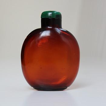 Amber Glass Floater Snuff Bottle