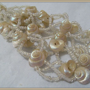 Victorian (? ) Shell Necklace - Costume Jewelry