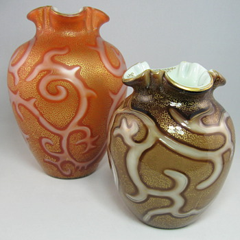 Loetz Federzeichnung Decor Vase (Octopus) - Art Glass