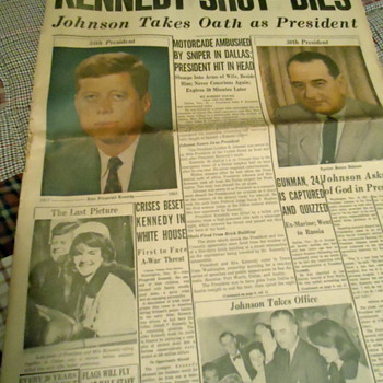 JFK Assassination Newspapers - Paper