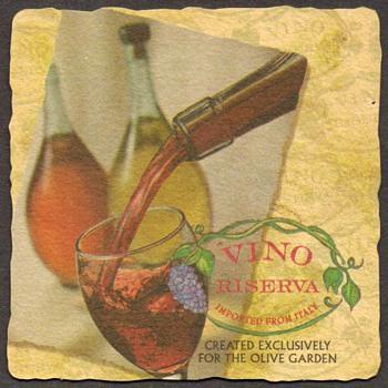 Bar Coaster - Vino Riserva - Breweriana