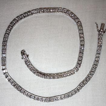 Art Deco silver necklace - Fine Jewelry