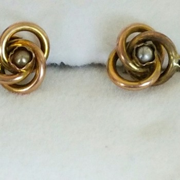 Great Grandmother's Tiny Earrings brought from Revo, Italy (Austria) on ship  - Fine Jewelry