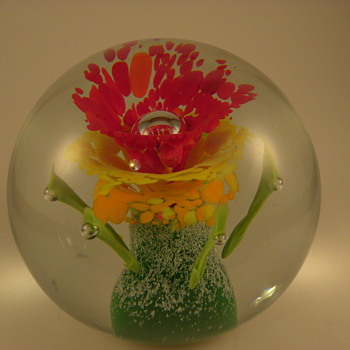 Gorgeous Art Glass Paperweight - Art Glass