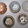 Set of 5 glass paperweights