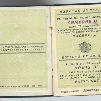 post-war delegation passport