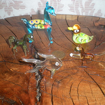 Miniature murano glass animals. - Art Glass