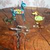 Miniature murano glass animals.