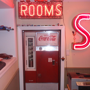 Some more neon lights I have, and a coke machine I have - Signs