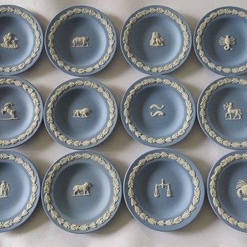 Wedgwood Jasperware Zodiac Pin Dishes / Trays - China and Dinnerware