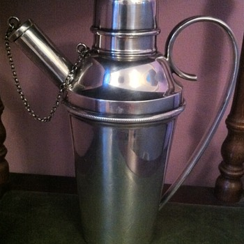 Antique cocktail drinks shaker by John Henry Potter Silversmiths