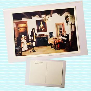 Vintage New York Living Room Postcard - Postcards