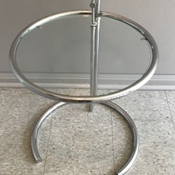 Chrome and glass table. - Furniture