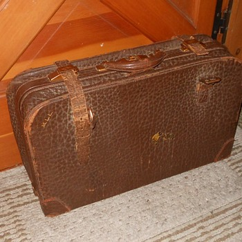 Vintage Leather Trunk With Straps