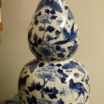 Double gourd vase. Chinese. - Pottery