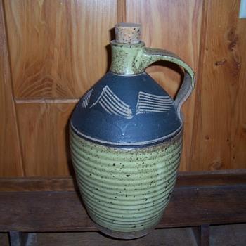 Ron Pivovar pottery jug 1973  - Pottery