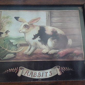 Day 3 loft finds. 1994 Rabbits - Posters and Prints