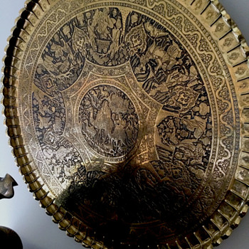Engraved Brass Tray - Fine Art