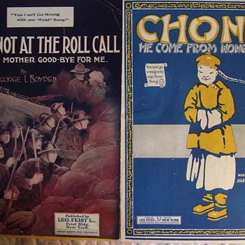 A FEW MORE WW1 ERA  SMALL SIZED SHEET MUSIC, PAPER SAVING EDITIONS. - Music Memorabilia