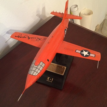 BELL X-1 ROCKET RESEARCH PLANE / CHUCK YEAGER  - Advertising