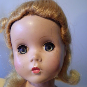 14 1/2 inch, hard plastic young lady needs a name. - Dolls