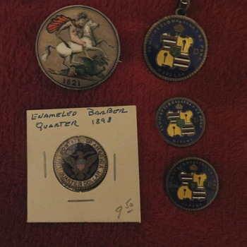 Enameled coins - US Coins