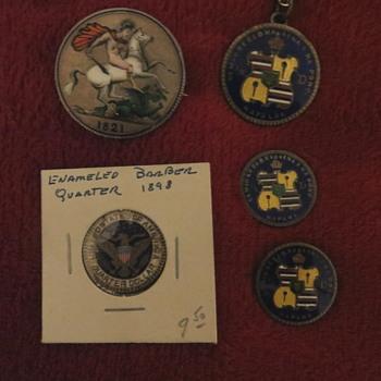Enameled coins