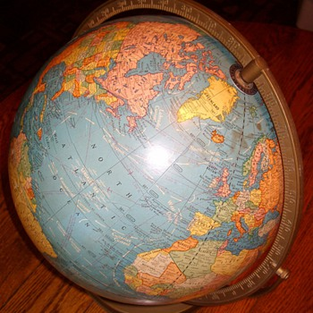 "Early 1950's ""Crams Imperial"" 12 Inch World Globe"