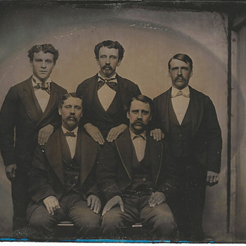 Full Plate Tintype Group Photo - Photographs