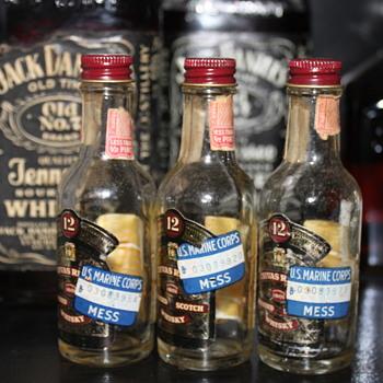 Chivas Regal Transportation bottles US Marine Corps 1940's - Bottles