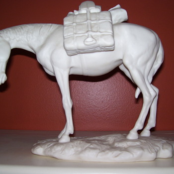 Ispanky Porcelain Packhorse - Animals