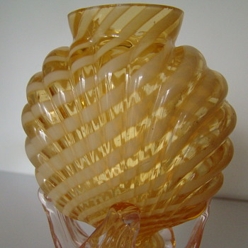 Bohemian Welz  vase - Art Glass