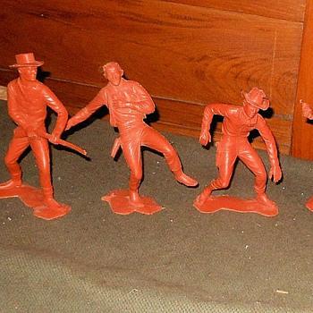 "Marx 6"" Cowboys Circa 1960s - Toys"