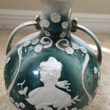 Art Nouveau Lady Vase - Pottery