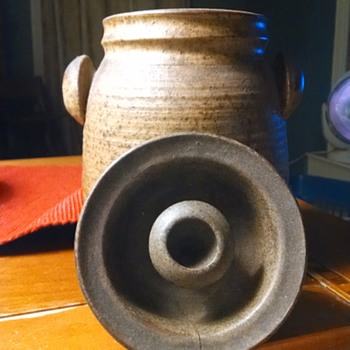interesting brown jug with markings i have yet to identify - Pottery