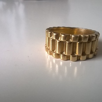 Rolex Design 18K Gold Ring, 10+ Grams - Flea Market Find~! It's My Size~! 50 CENTS
