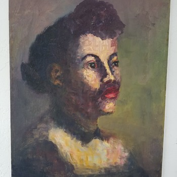 1800s    Early Portrait of a Black Woman.... Or,  Black Man?  Any Guesses?  - Fine Art