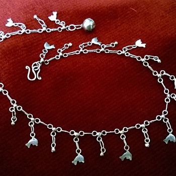 Sterling Dolphin Ankle Bracelet Garage Sale Find 50 Cents - Fine Jewelry