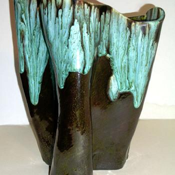 Oil Slick Drip Glaze Studio Pottery Vase - Bill Ferg?  - Pottery