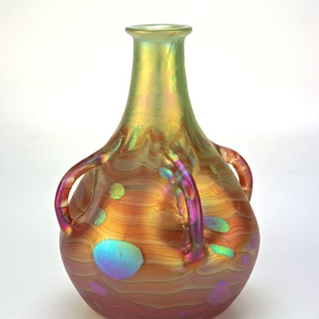 Extruded Handle Loetz Cytisus in form ll-2/633 - Art Glass
