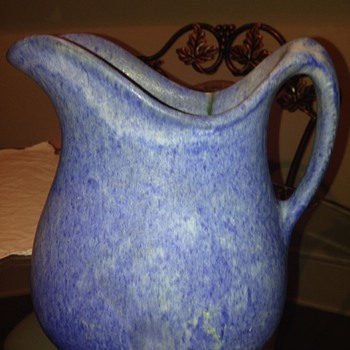 Blue Stone/Ceramic Pitcher - Pottery