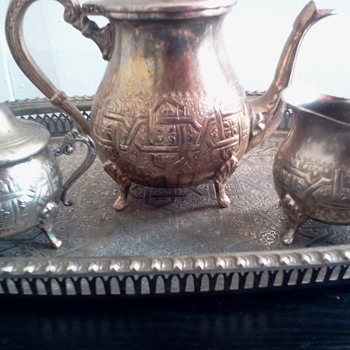 Unknown marks on Silver Plate(?) Tea Service - Silver