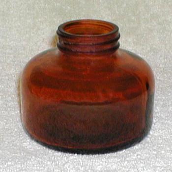 1947 - Bug Sprayer Brown Glass Bottle - Bottles