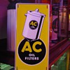 Original...AC Oil Filters...Tin Sign...Four Colors...March 1941