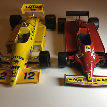 Bburago and Polistil 1980s Formula 1 racers - Model Cars