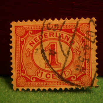 Vintage Nederlands 1 Cent Stamp ~ Used