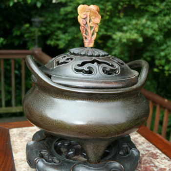 Antique Chinese Bronze Censer - Asian